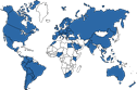Small World Map of MOBROG International Online Panels